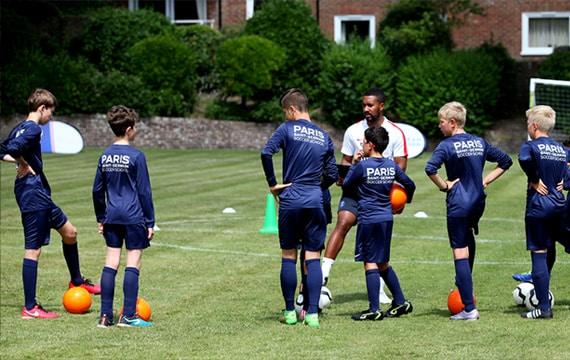 Football summer camp in England
